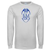 White Long Sleeve T Shirt-Tall Football Design