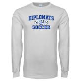 White Long Sleeve T Shirt-Diplomats Soccer