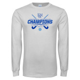 White Long Sleeve T Shirt-2017 Field Hockey Champions