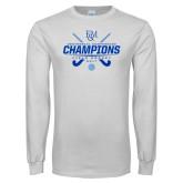 White Long Sleeve T Shirt-2017 Field Hockey Champions