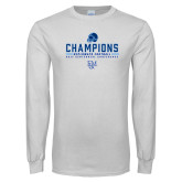 White Long Sleeve T Shirt-2017 Football Champions