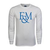White Long Sleeve T Shirt-F&M