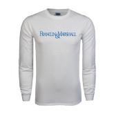 White Long Sleeve T Shirt-Franklin & Marshall