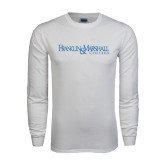 White Long Sleeve T Shirt-Franklin & Marshall College