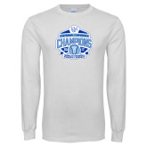 White Long Sleeve T Shirt-2017 Centennial Conference Champions Womens Lacrosse