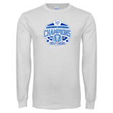 White Long Sleeve T Shirt-2017 Centennial Conference Champions Mens Lacrosse