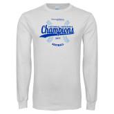 White Long Sleeve T Shirt-2017 Centennial Conference Champions Softball