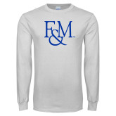 White Long Sleeve T Shirt-F&M