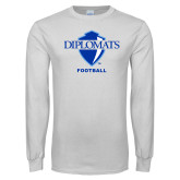 White Long Sleeve T Shirt-Football