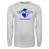 White Long Sleeve T Shirt-Field Hockey