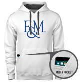 Contemporary Sofspun White Hoodie-F&M