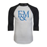 White/Black Raglan Baseball T-Shirt-F&M
