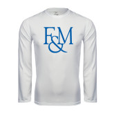 Syntrel Performance White Longsleeve Shirt-F&M