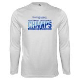 Syntrel Performance White Longsleeve Shirt-2017 Centennial Conference Champions Mens Lacrosse