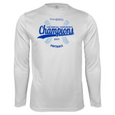 Syntrel Performance White Longsleeve Shirt-2017 Centennial Conference Champions Softball