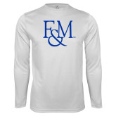 Performance White Longsleeve Shirt-F&M