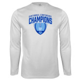 Syntrel Performance White Longsleeve Shirt-2017 Football Champions Stacked w/ Football Vertical