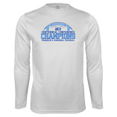 Syntrel Performance White Longsleeve Shirt-2017 Football Champions Stacked w/ Football