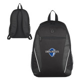 Atlas Black Computer Backpack-Diplomats Official Logo
