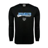 Black Long Sleeve TShirt-Lacrosse Stick