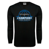 Black Long Sleeve TShirt-2016 Centennial Conference Champions Mens Basketball