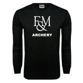Black Long Sleeve TShirt-Franklin & Marshall Archery