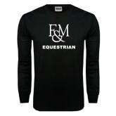 Black Long Sleeve TShirt-Franklin & Marshall Equestrian