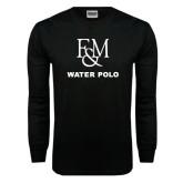 Black Long Sleeve TShirt-Franklin & Marshall Water Polo