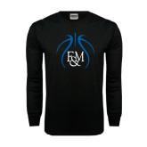 Black Long Sleeve TShirt-Logo in Ball