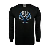 Black Long Sleeve TShirt-Logo on Ball