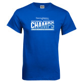 Royal T Shirt-2017 Centennial Conference Champions Womens Lacrosse
