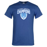 Royal T Shirt-2017 Football Champions Stacked w/ Football Vertical