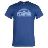Royal T Shirt-2017 Football Champions Stacked w/ Football