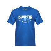Youth Royal T Shirt-2016 CC-MAC Bowl Champions Football