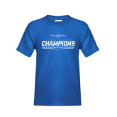 Youth Royal T Shirt-2016-17 Centennial Conference Champions Mens Swimming