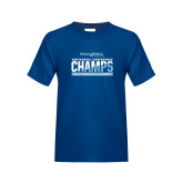 Youth Royal T Shirt-2017 Centennial Conference Champions Womens Lacrosse