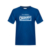 Youth Royal T Shirt-2017 Centennial Conference Champions Mens Lacrosse