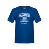 Youth Royal T Shirt-2017 Centennial Conference Champions Mens Golf