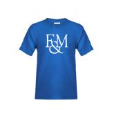 Youth Royal T Shirt-F&M