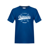 Youth Royal T Shirt-2017 Centennial Conference Champions Softball