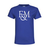 Youth Royal T Shirt-F&M