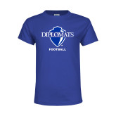 Youth Royal T Shirt-Football