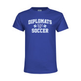 Youth Royal T Shirt-Diplomats Soccer
