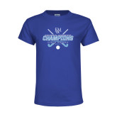 Youth Royal T Shirt-2017 Field Hockey Champions