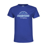 Youth Royal T Shirt-2017 Mens Soccer Champions