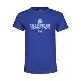 Youth Royal T Shirt-2017 Football Champions