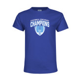 Youth Royal T Shirt-2017 Football Champions Stacked w/ Football Vertical