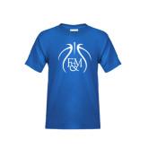Youth Royal T Shirt-Logo in Ball