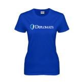 Ladies Royal T Shirt-Diplomats Flat Logo