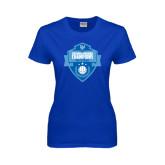 Ladies Royal T Shirt-Shield Volleyball Champions